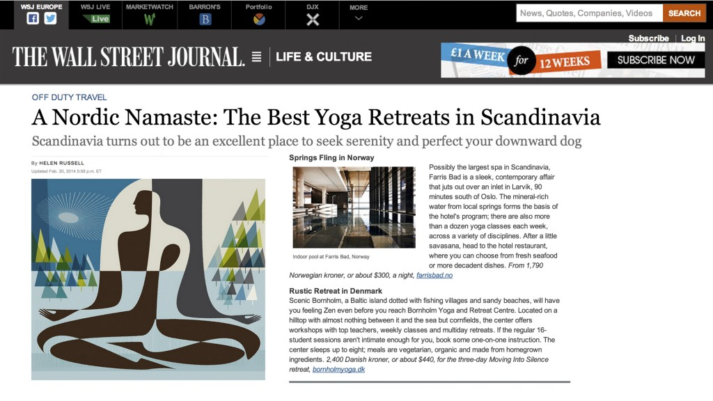 Wall Street Journal - Bornholm Yoga